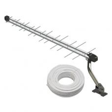 ANTENA Externa Log 28 Elementos UHF, HDTV Digital SL-2800 - Kit