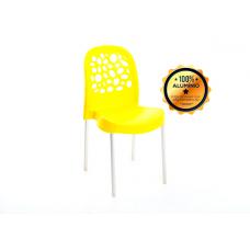 CADEIRA Deluxe C/ Perna Alumínio Amarela