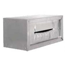 PORTA Carta Chapa Embutir 24x13cm 1/2 Tijolo Cor Alumínio