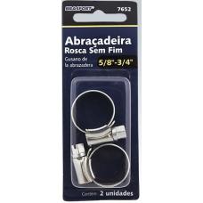 ABRAÇADEIRA Metal Anel Rosca Sem Fim 5/8X3/4 C/ 2 unidades