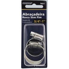 ABRAÇADEIRA Metal Anel Rosca Sem Fim 3/4X1 C/ 2 unidades