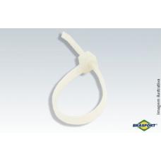 ABRAÇADEIRA De Nylon Branca 3,6mmX300mm C/100 Peças