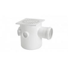 CAIXA Sifonada PVC 51 Grelha PVC Branca 150x185x75mm