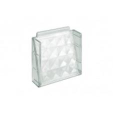 BLOCO De Vidro Veneziana Diamante 20x19x6cm