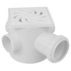 CAIXA Sifonada PVC 68 Grelha Alumínio 100x100x50mm