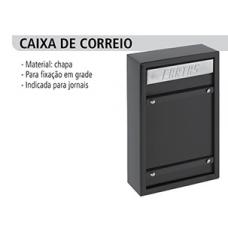 PORTA Carta Chapa Grade Jornal 39x15cm Cor Preta