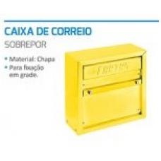 PORTA Carta Chapa Grade 010CB 23x23x10cm Cor Amarela